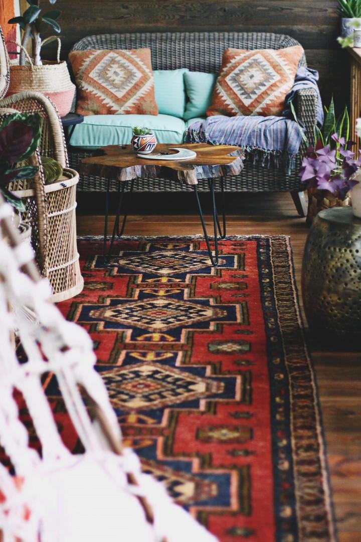 The Boho Porch Makeover at bohocollective.com