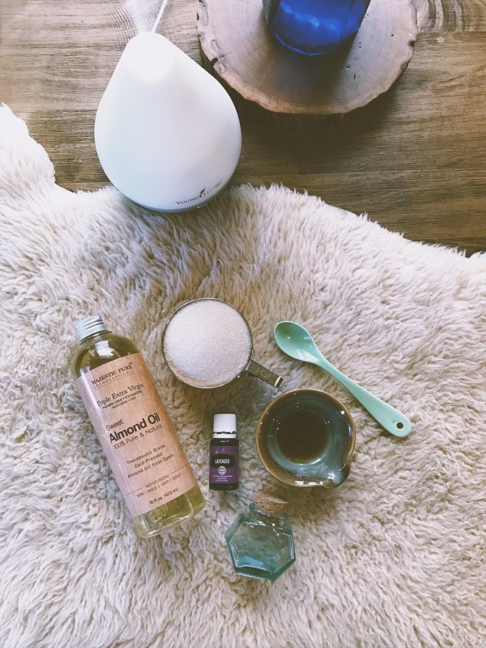 Lavender + Vanilla Face Scrub via bohocollective.com