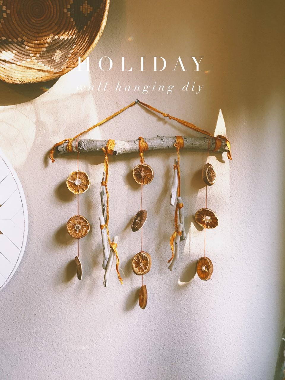 Holiday Wall Hanging DIY via bohocollective.com