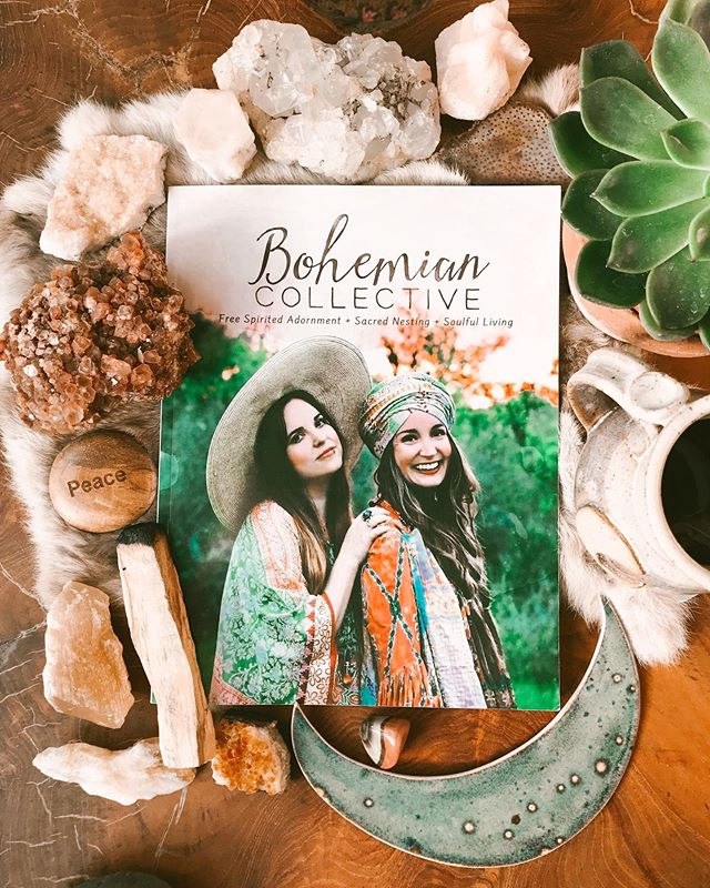 IT'S HERE!!!! Issue No. 4 of the Bohemian Collective Magazine is officially launched! Visit the link in our profile to grab your copy now! . We updated the shop with our past issues available in digital only, so you can now grab them all in one place! You will see 3 different options for the new summer issue in the shop: digital, print + our special Sacred Bundles (super limited quantities) ✨ . After you grab your copy (or if you already pre-ordered), come back here + let us know! We will choose one person to send a random thank you gift to. 🔮 And if you share about the magazine on your feed or in your stories, please tag @bohemiancollective for a chance to be featured. 🌞 . A huge thank you to everyone who made this magazine possible, our dream team @lauramazurek @kanthabae @velvetandvalor + @cassieboorn, and all of our readers! We love you 🌻 . #bcmag4 #bohemiancollectivemag #bohemiancollective #indiemagazine #supportthemakers #bohostyle #modernbohemian #jungalowstyle #crystals #pottery #moonchild #freespirit #meetthemaker