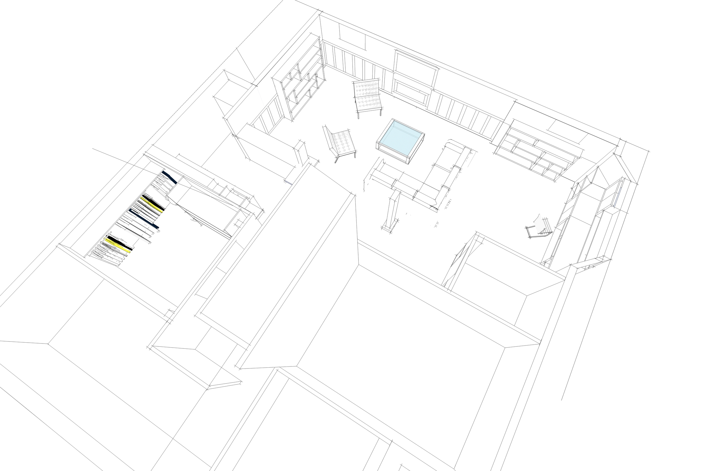 3D modeling - proposed basement design