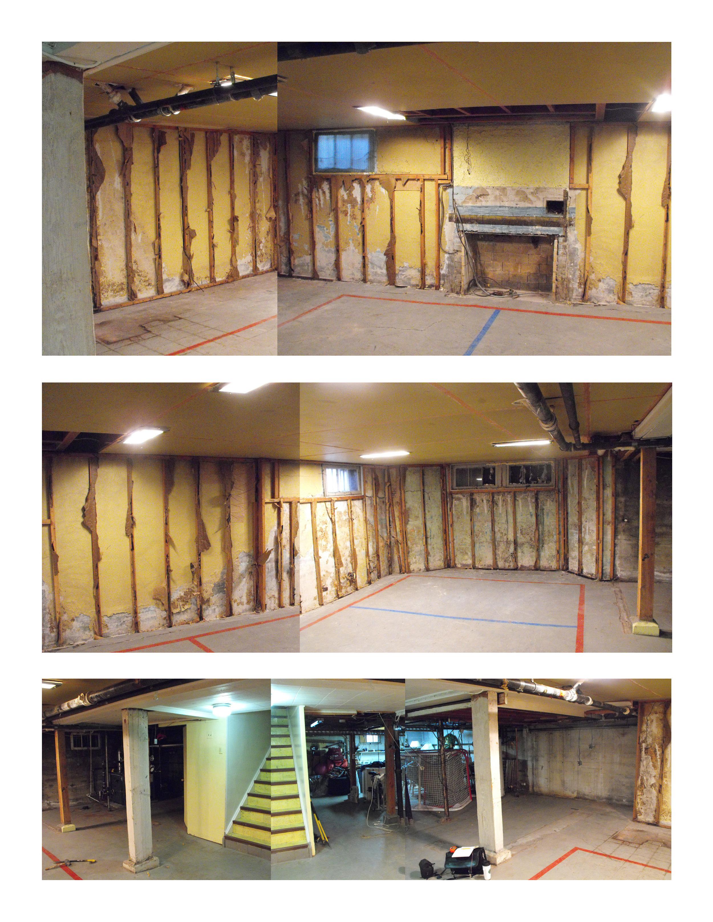Unfinished basement