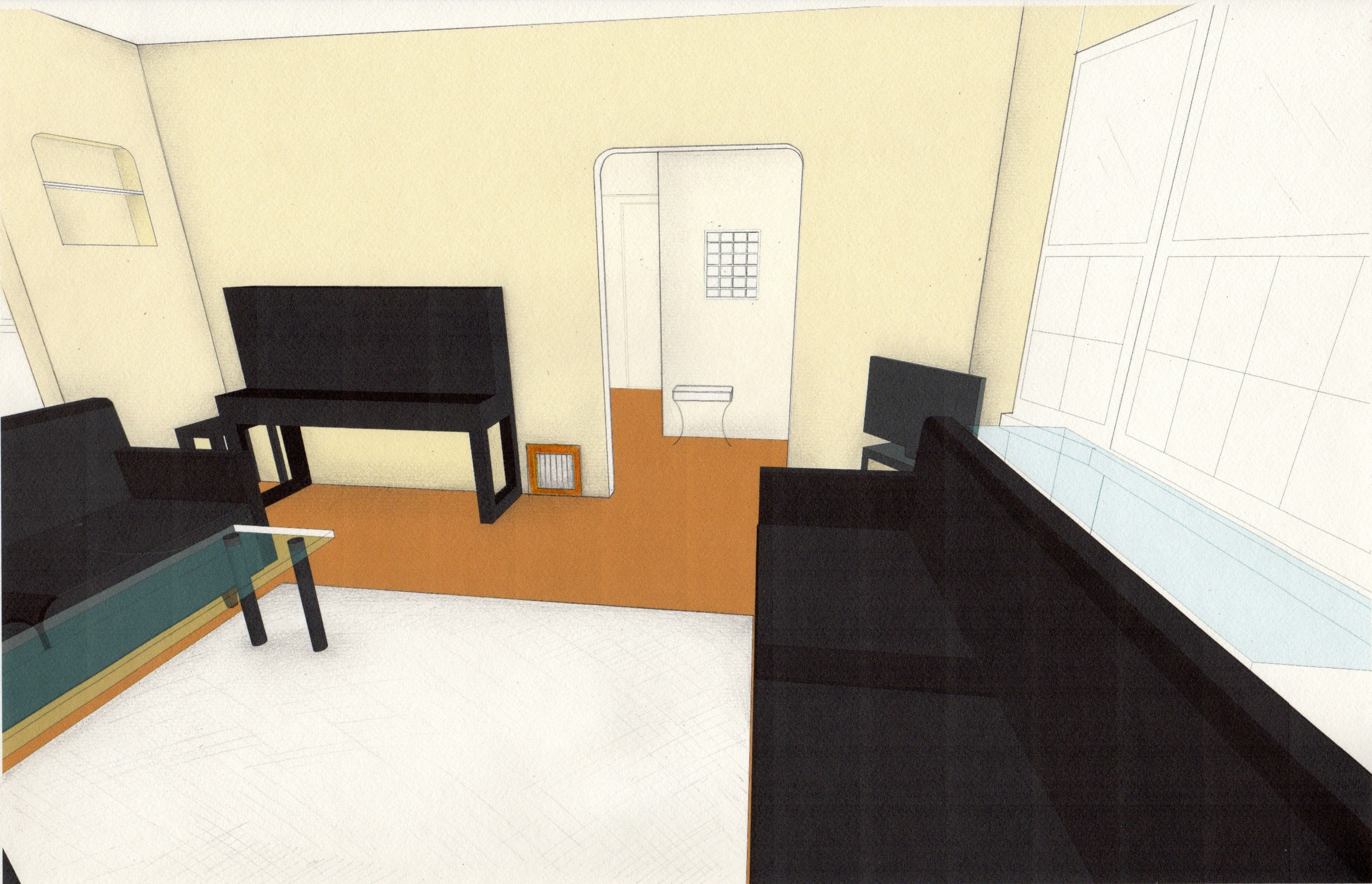 Proposed living room design