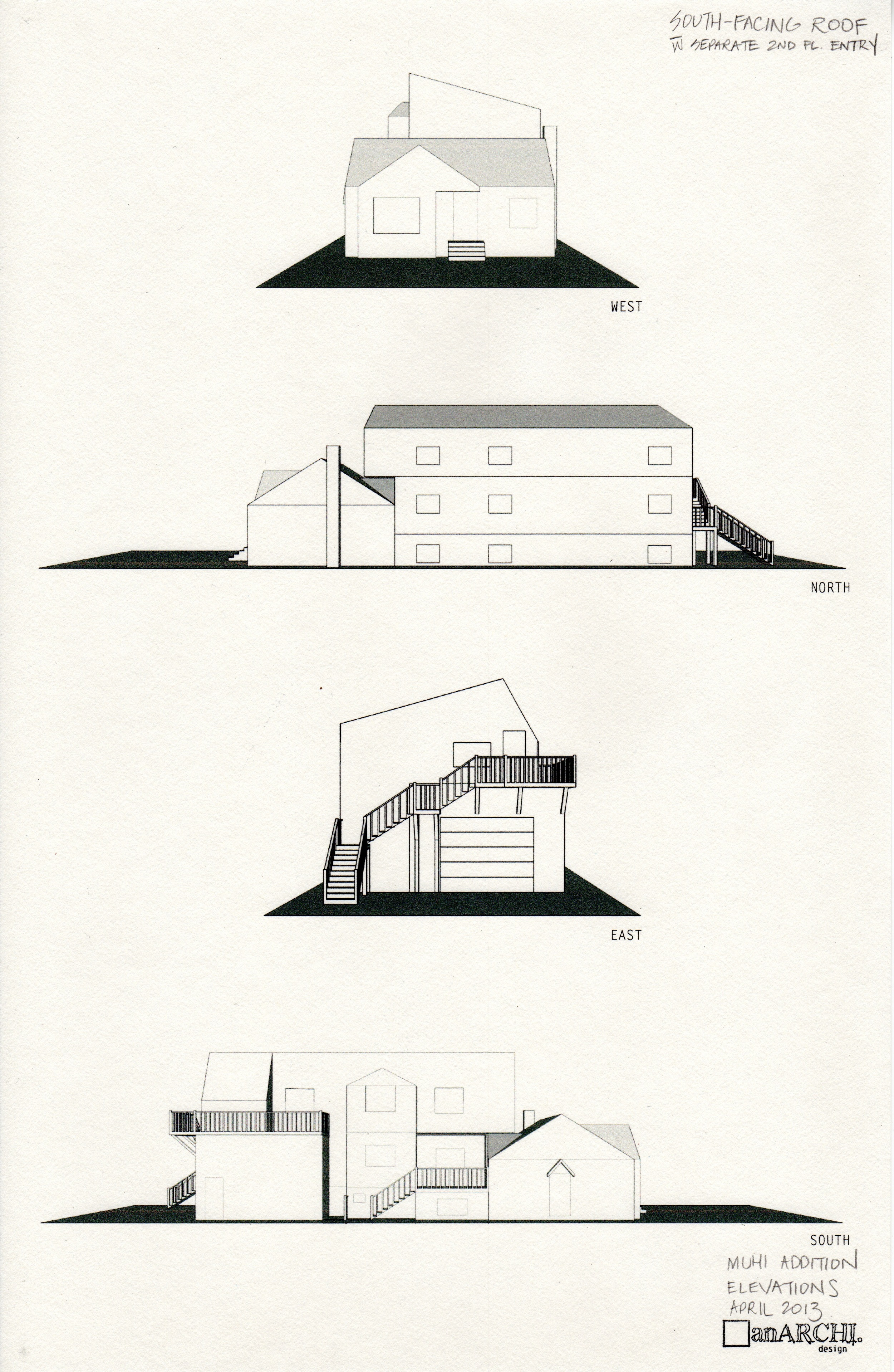 Design 2 - elevational views