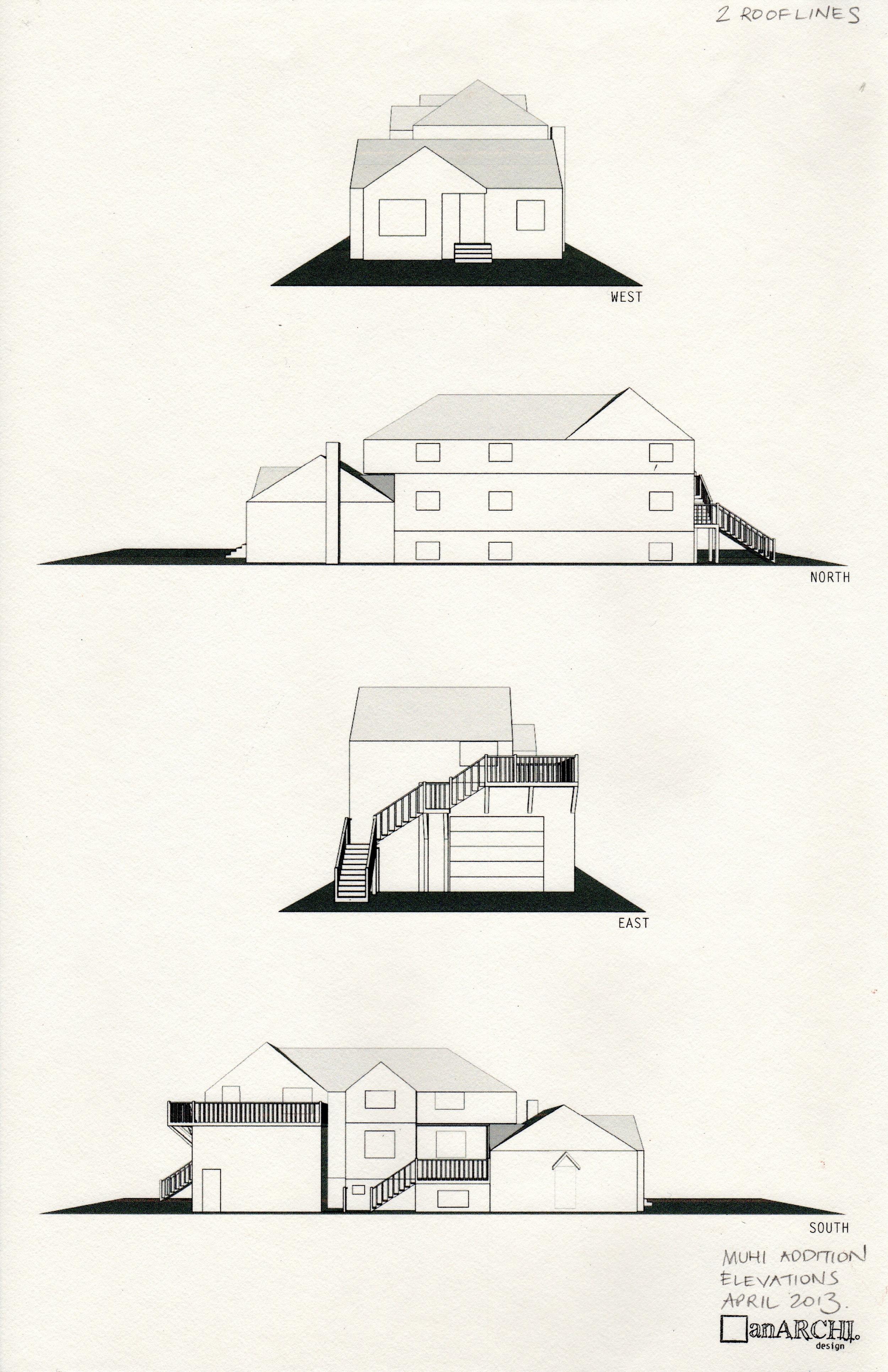 Design 4 - elevational views
