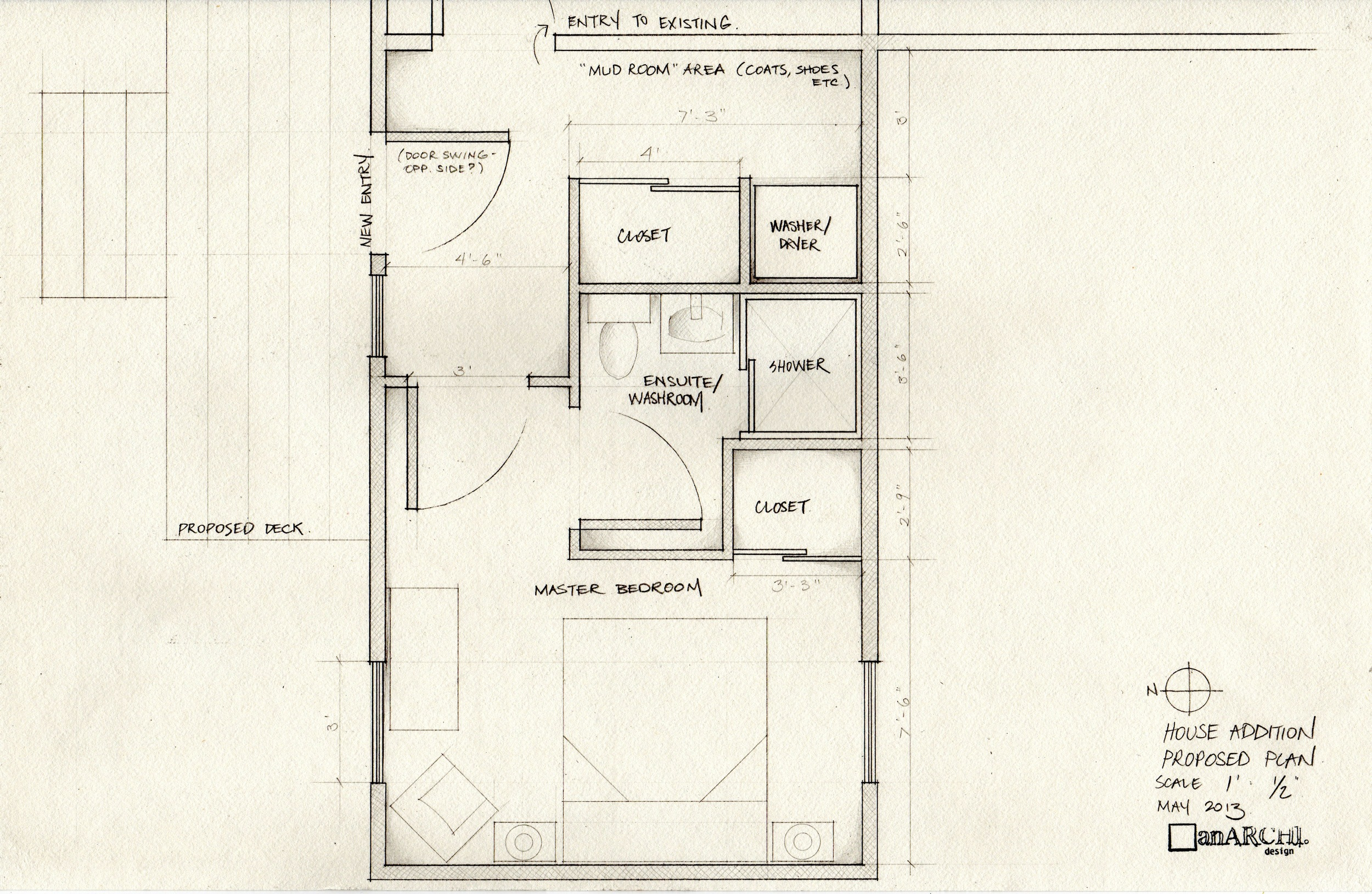 Plan of proposed addition
