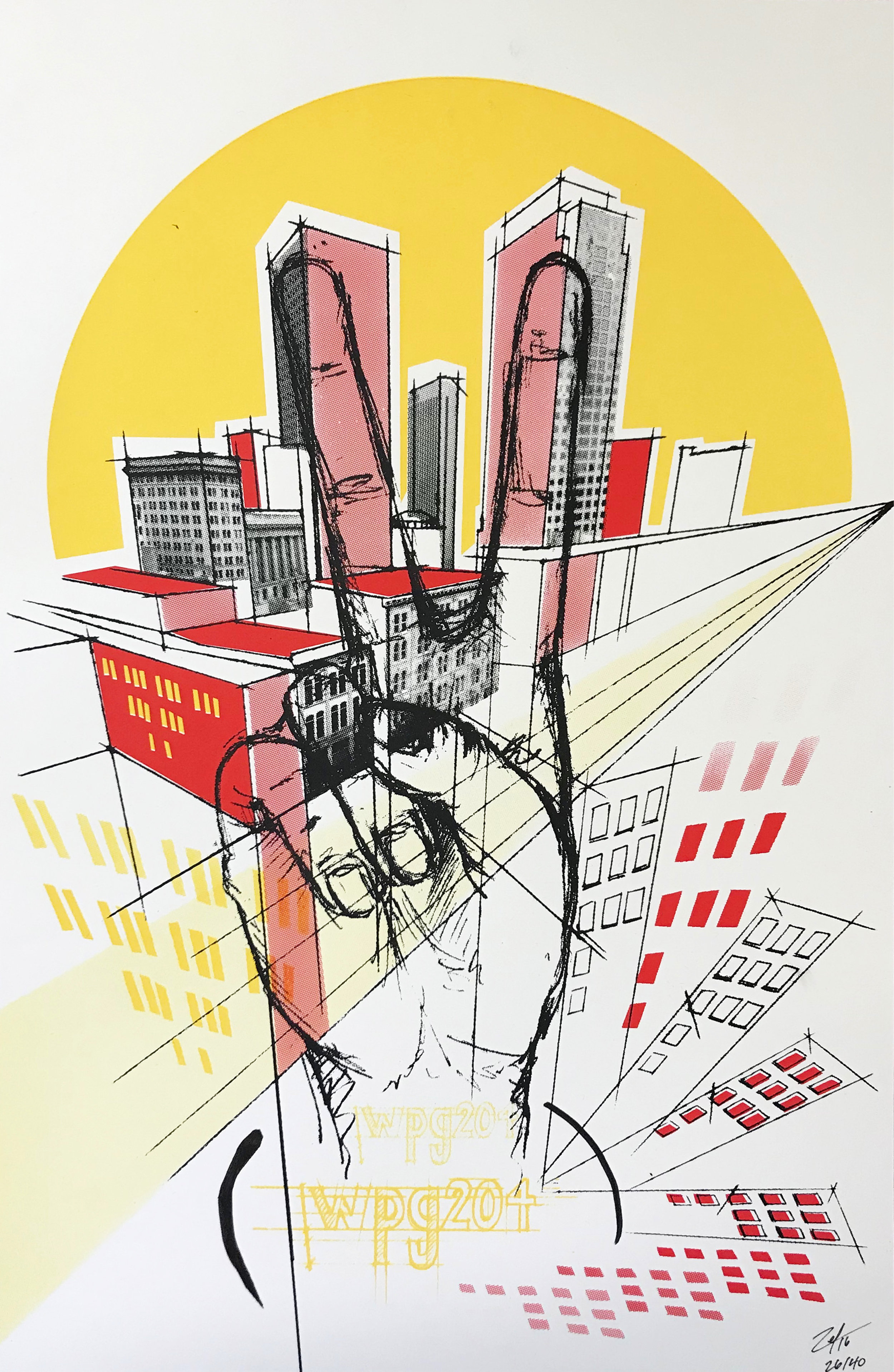 """""""Winnipeg"""" limited edition screen printed poster."""