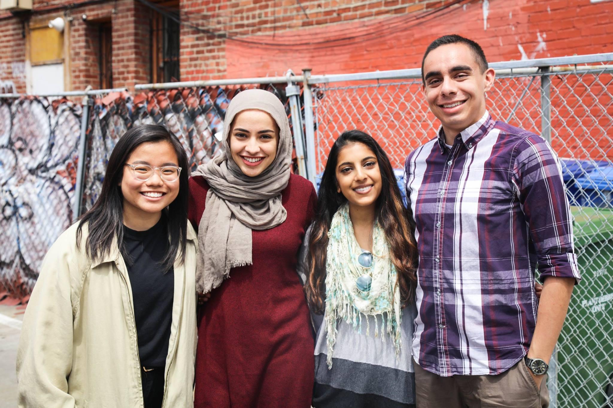 Left to Right: Carolyn Hsieh, Hajar Larbah, Hafsa Khalid, Esteban Velasquez