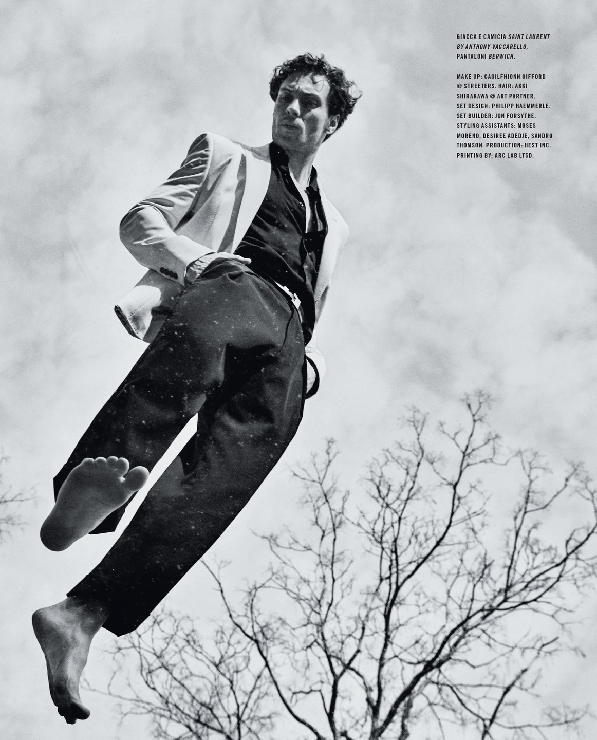 AARON TAYLOR-JOHNSON STYLED BY GEORGE CORTINA PHOTOGRAPHY BY MARIO SORRENTI BELTS BY A. JASON ROSS
