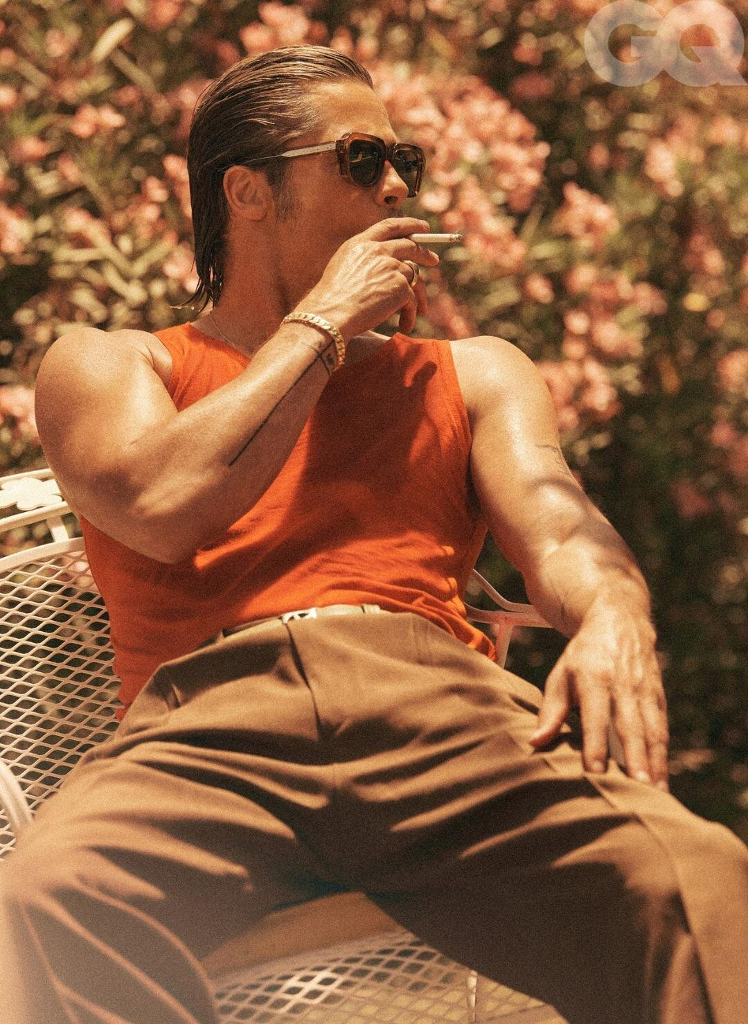 BRAD PITT IN CUSTOM BELT BY A. JASON ROSS STYLED BY GEORGE CORTINA  PHOTOGRAPHS BY LACHLAN BAILEY