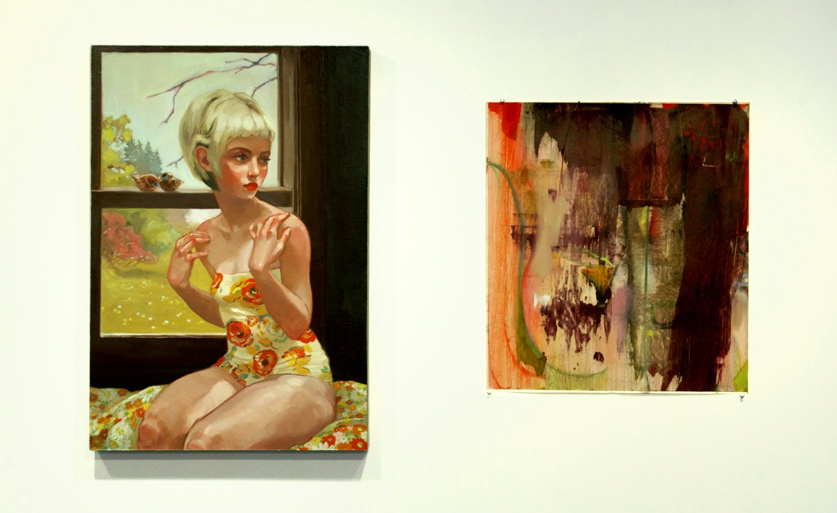 A pairing of paintings by Rachel Gregor and Mary O'Brien