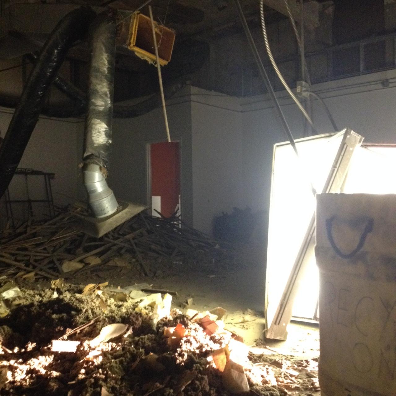 Demolition stage. January.