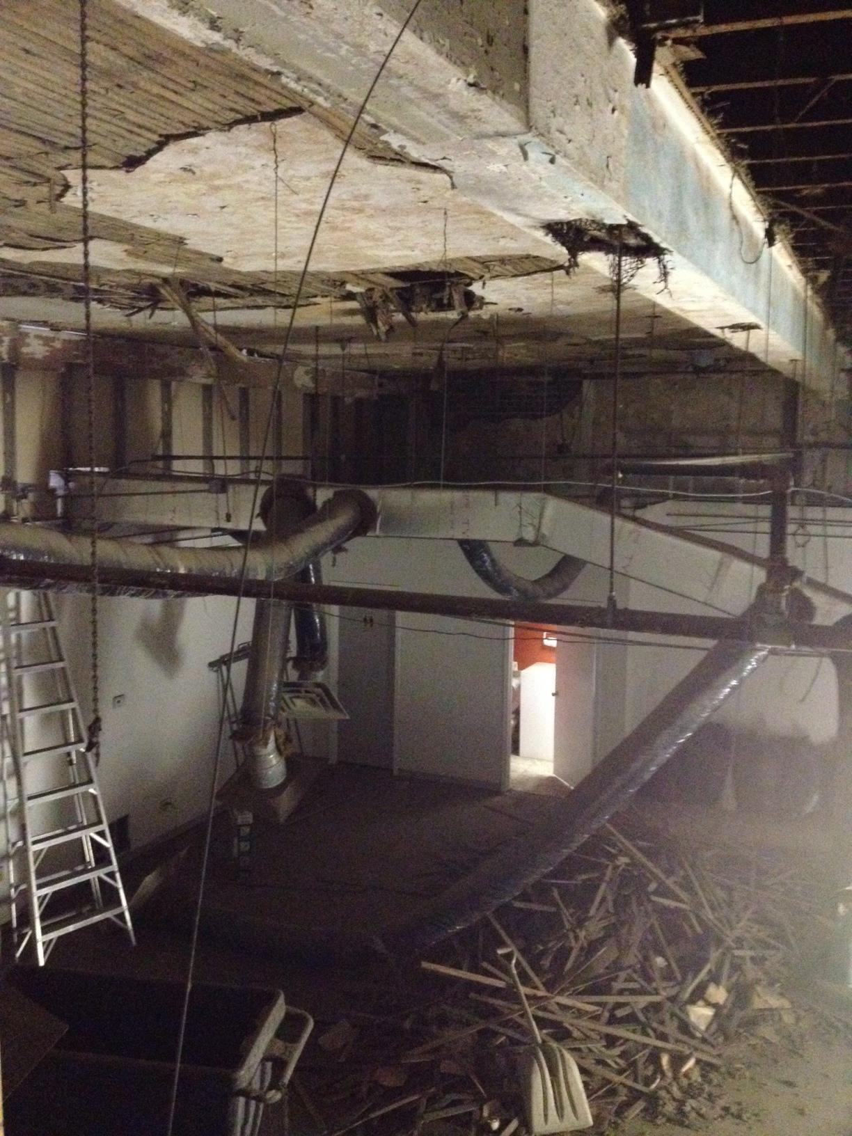 Start of demolition. January.