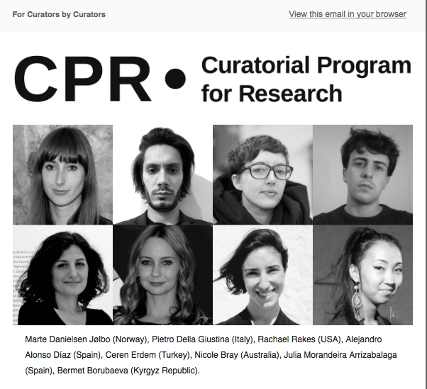 nicole bray curatorial program for research