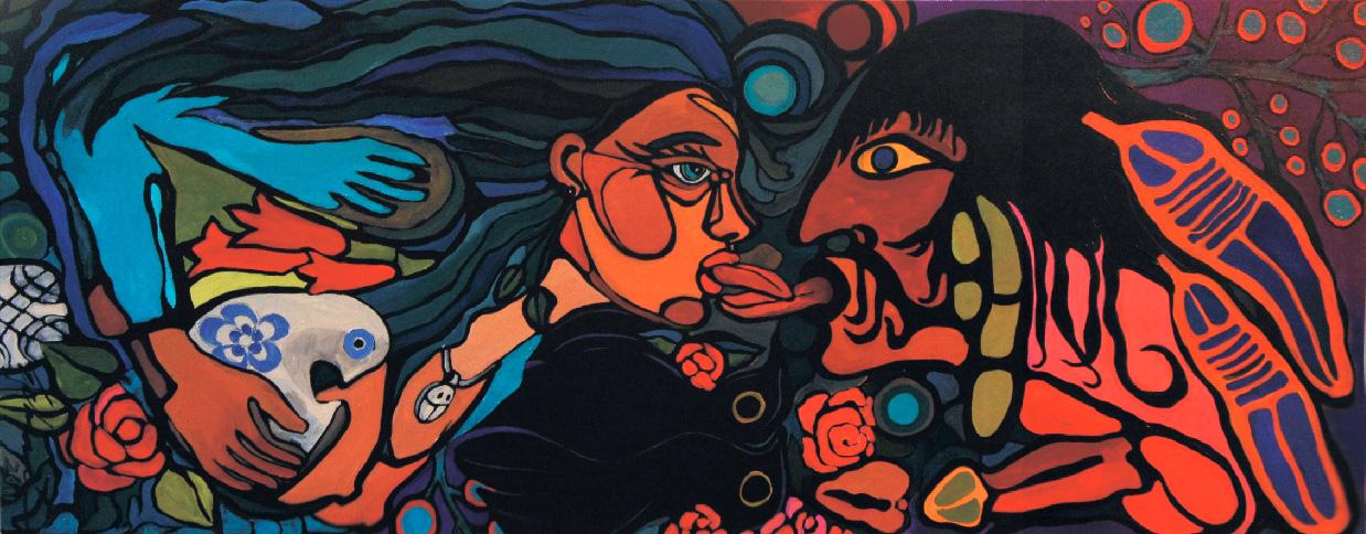 Bilingualism 2 (24x60) acrylic on canvas  2012