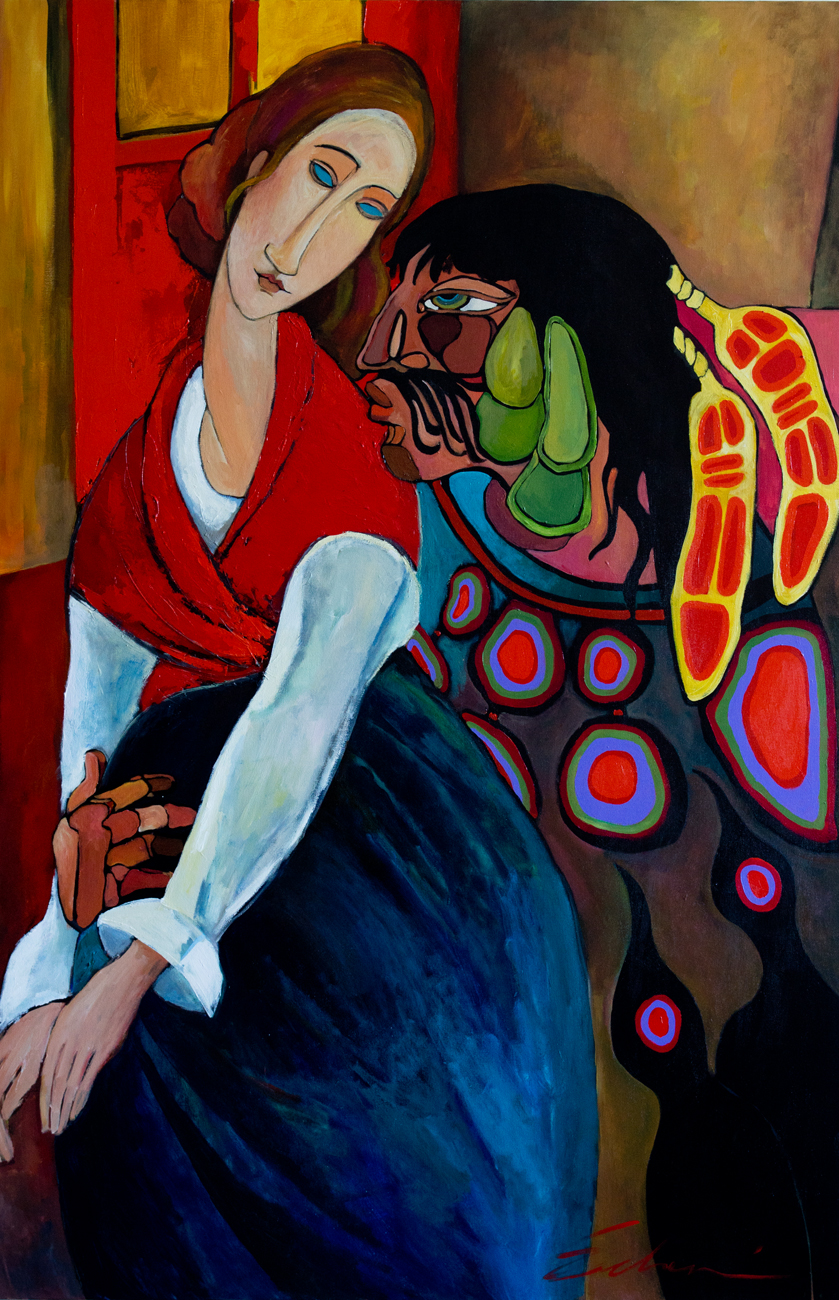 Cultural Exchange: Consolation of the Muse (60x40) acrylic on canvas 2012