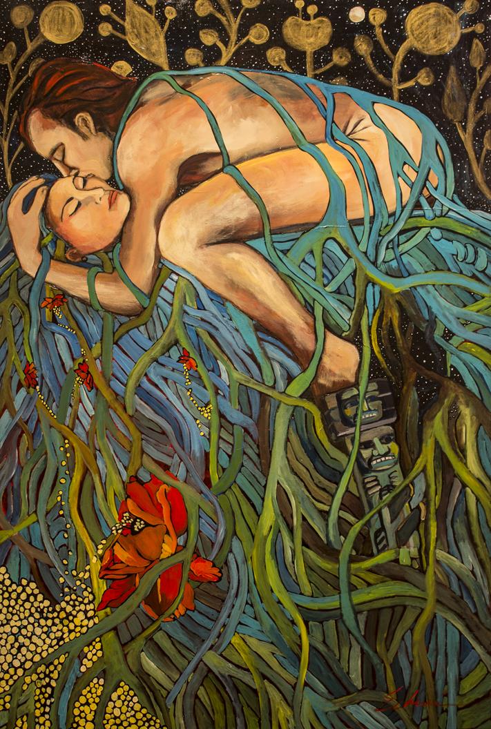 Sweet Loving the Land, acrylic on canvas, 2014