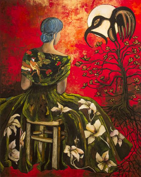 Tree of Self Doubt, acrylic on canvas, 2014