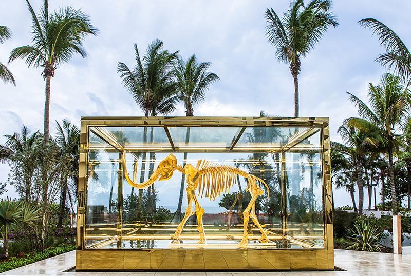 'Gone but not Forgotten' Mammoth.  The enclosure was created by NASA to withstand hurricanes!