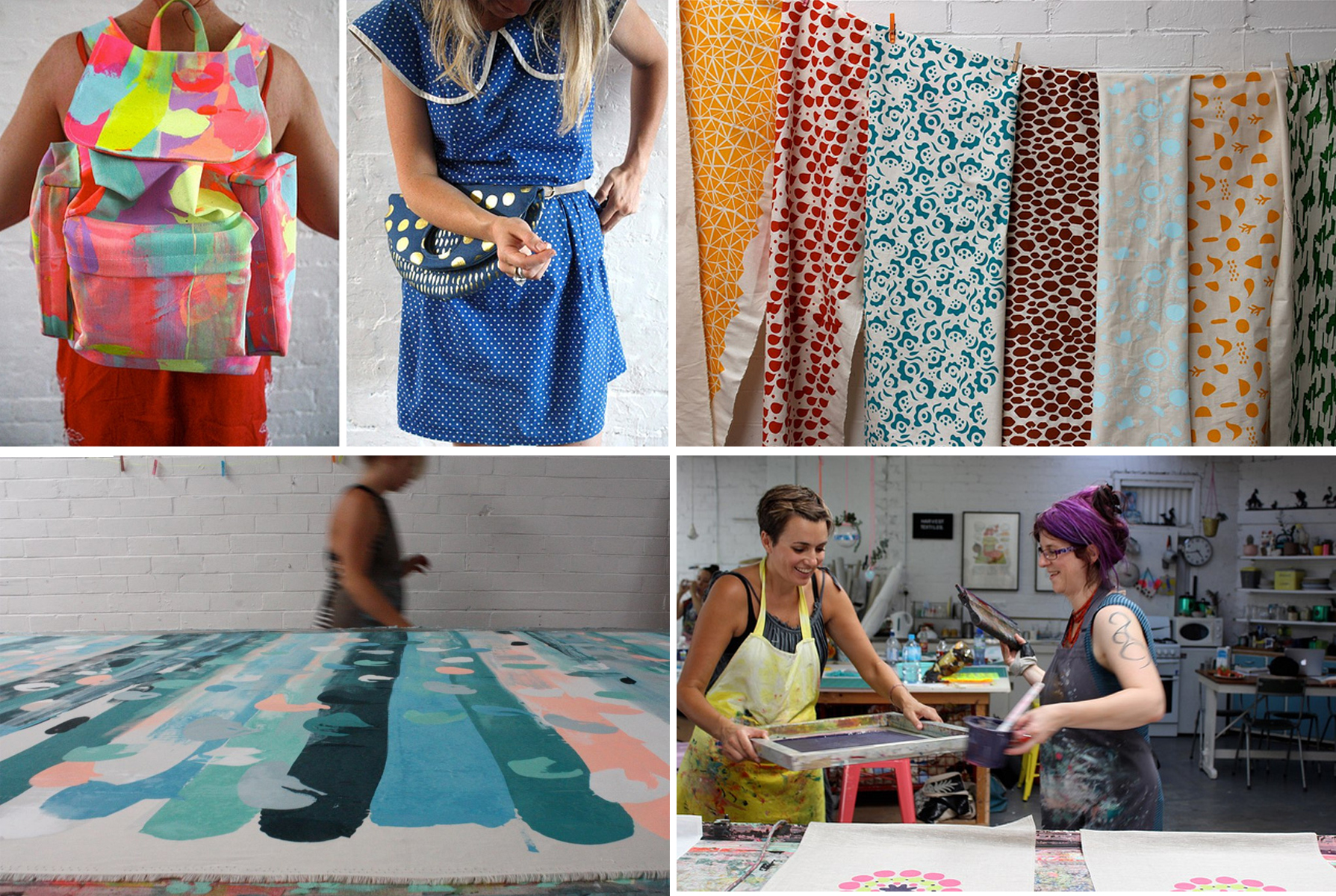 Products, projects and process at Harvest Textiles.