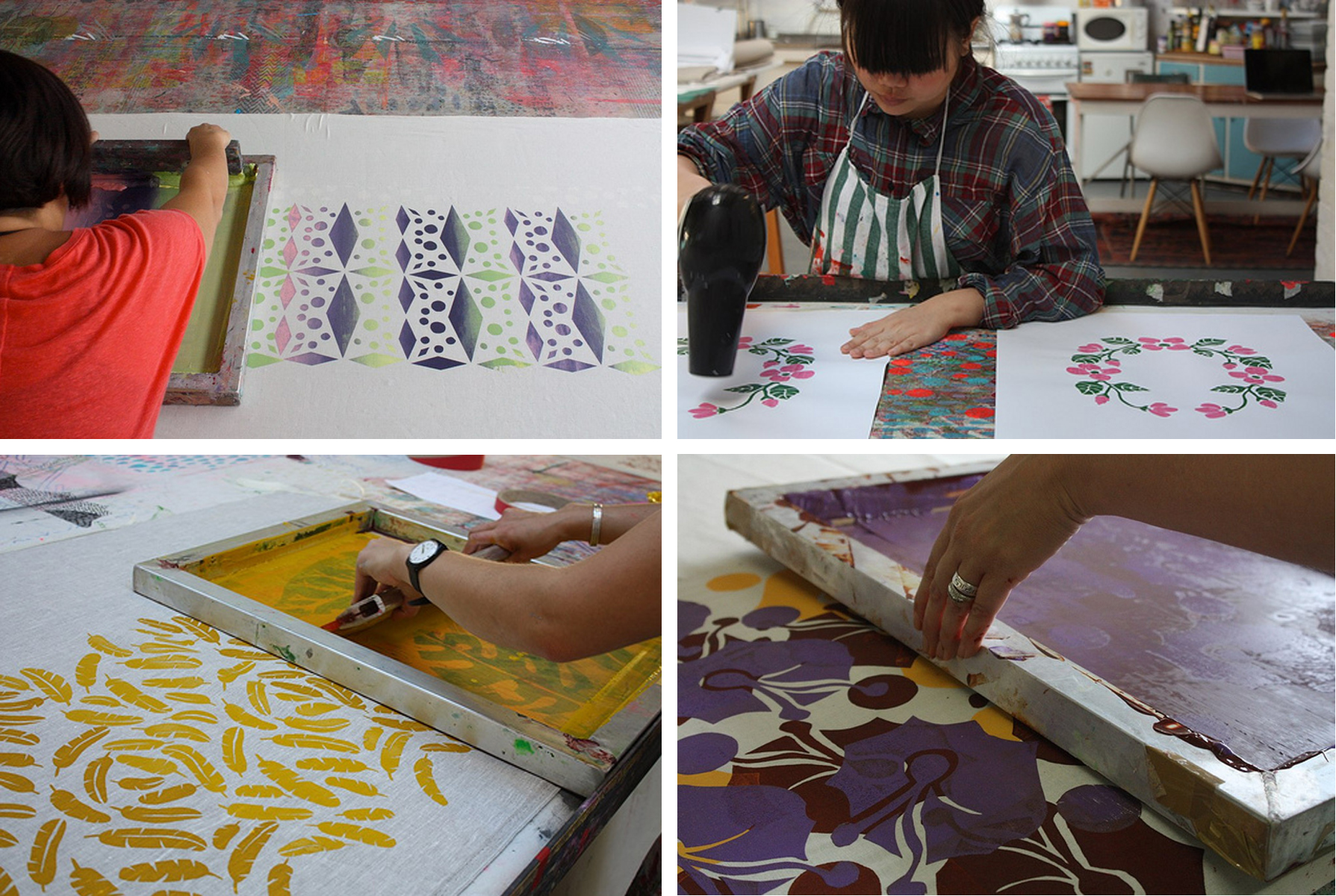 Screen Printing Workshop at Harvest Textiles.