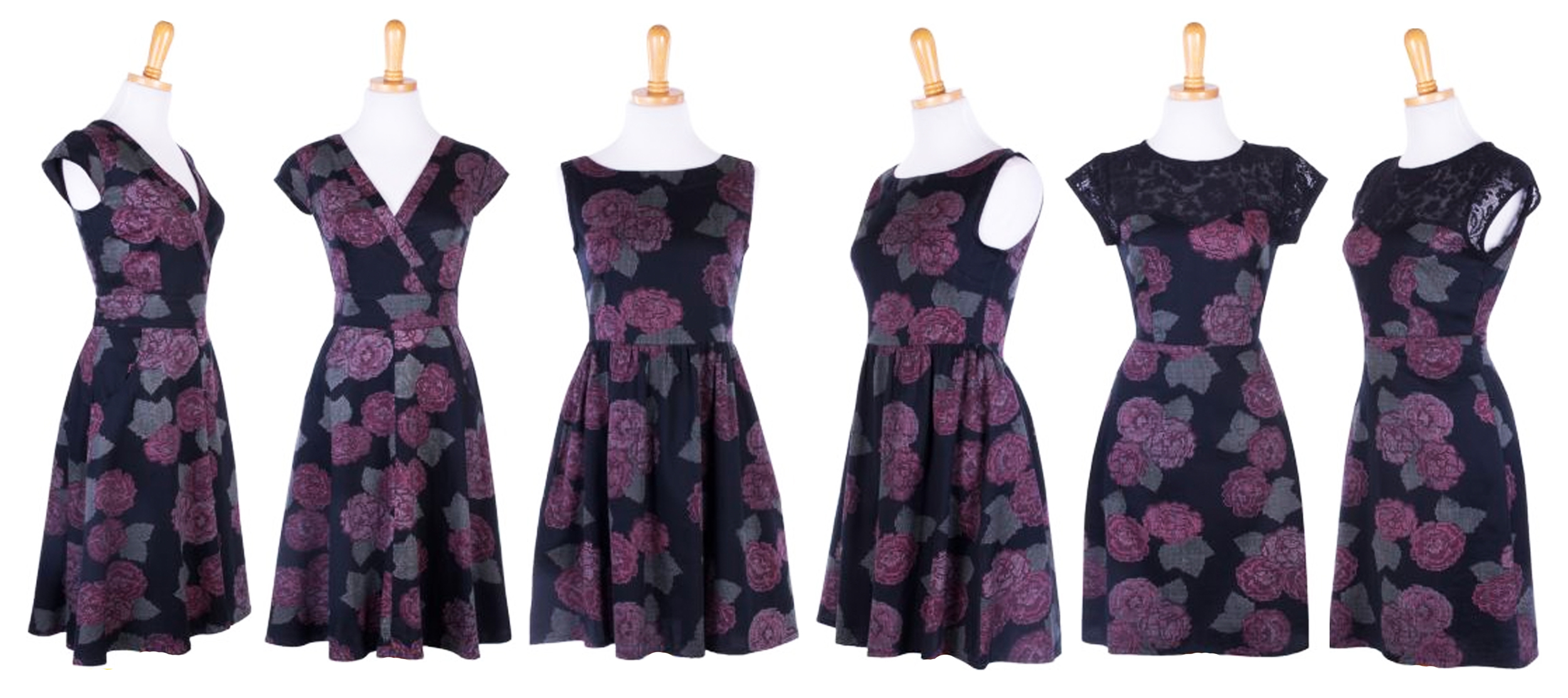 Left: Oberlin Dress    Middle: Hello Dolly   Right: Loyal Love Dress