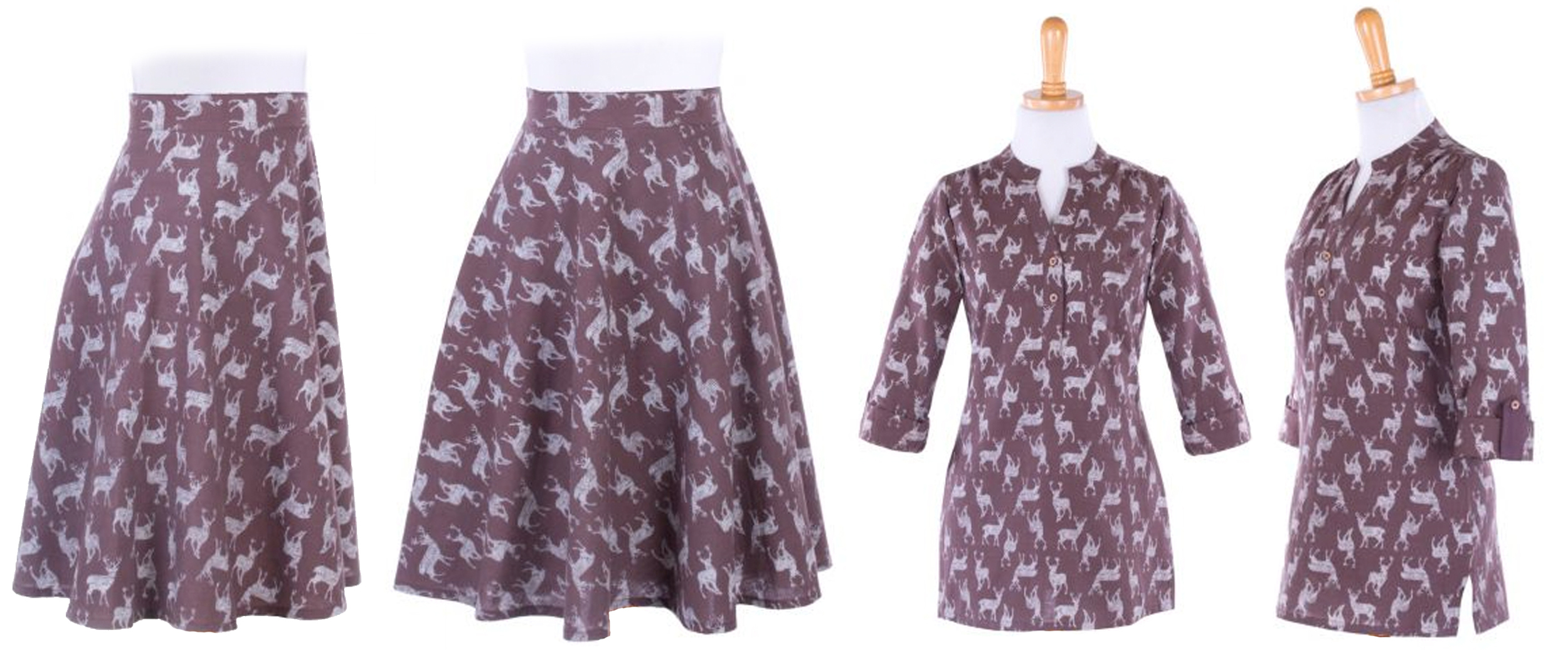 Buck Stops Here  skirt and the  Near and Deer  top.