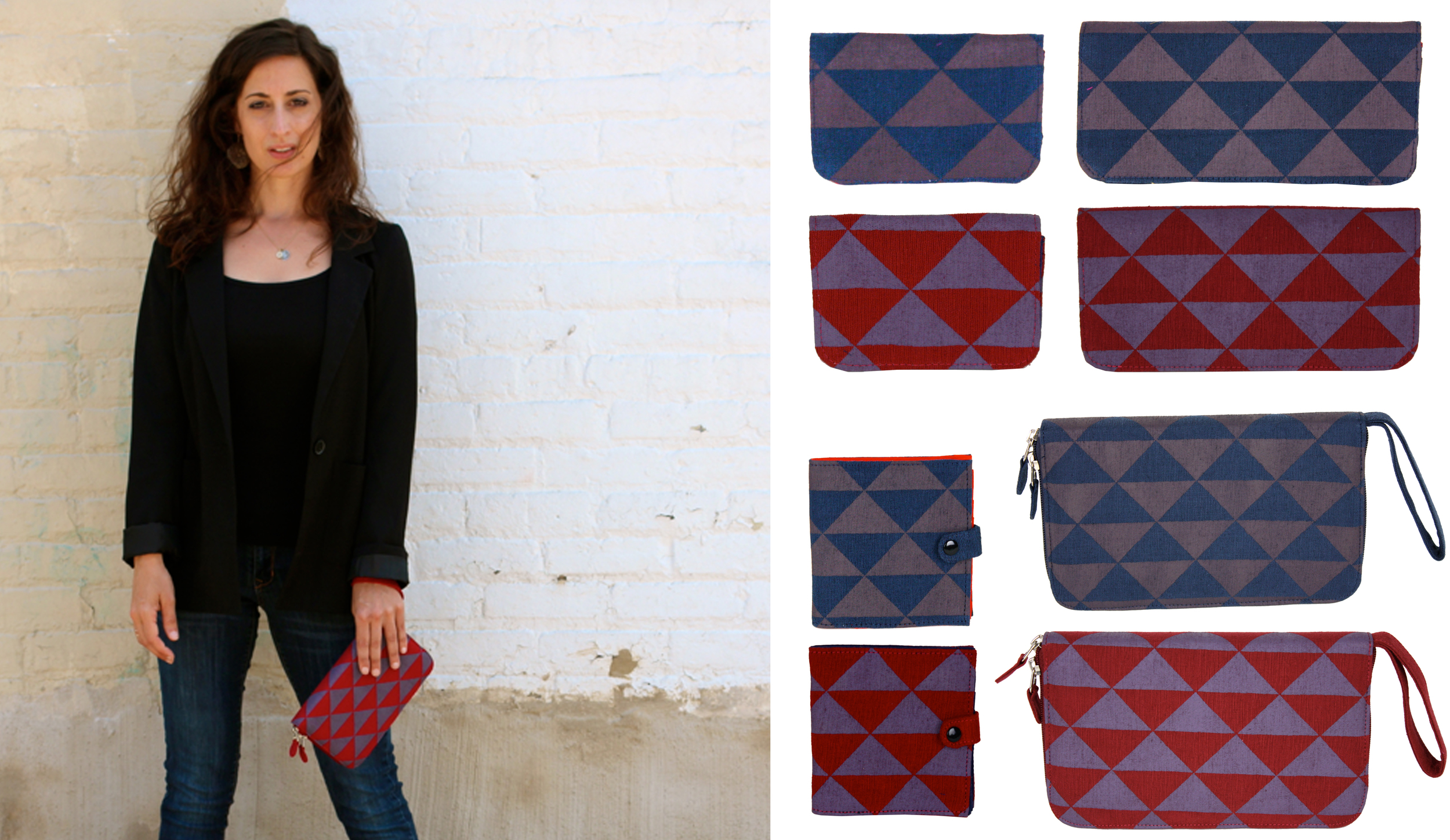 Textile Design by Shifra Whiteman. Wallet by Malia Designs.