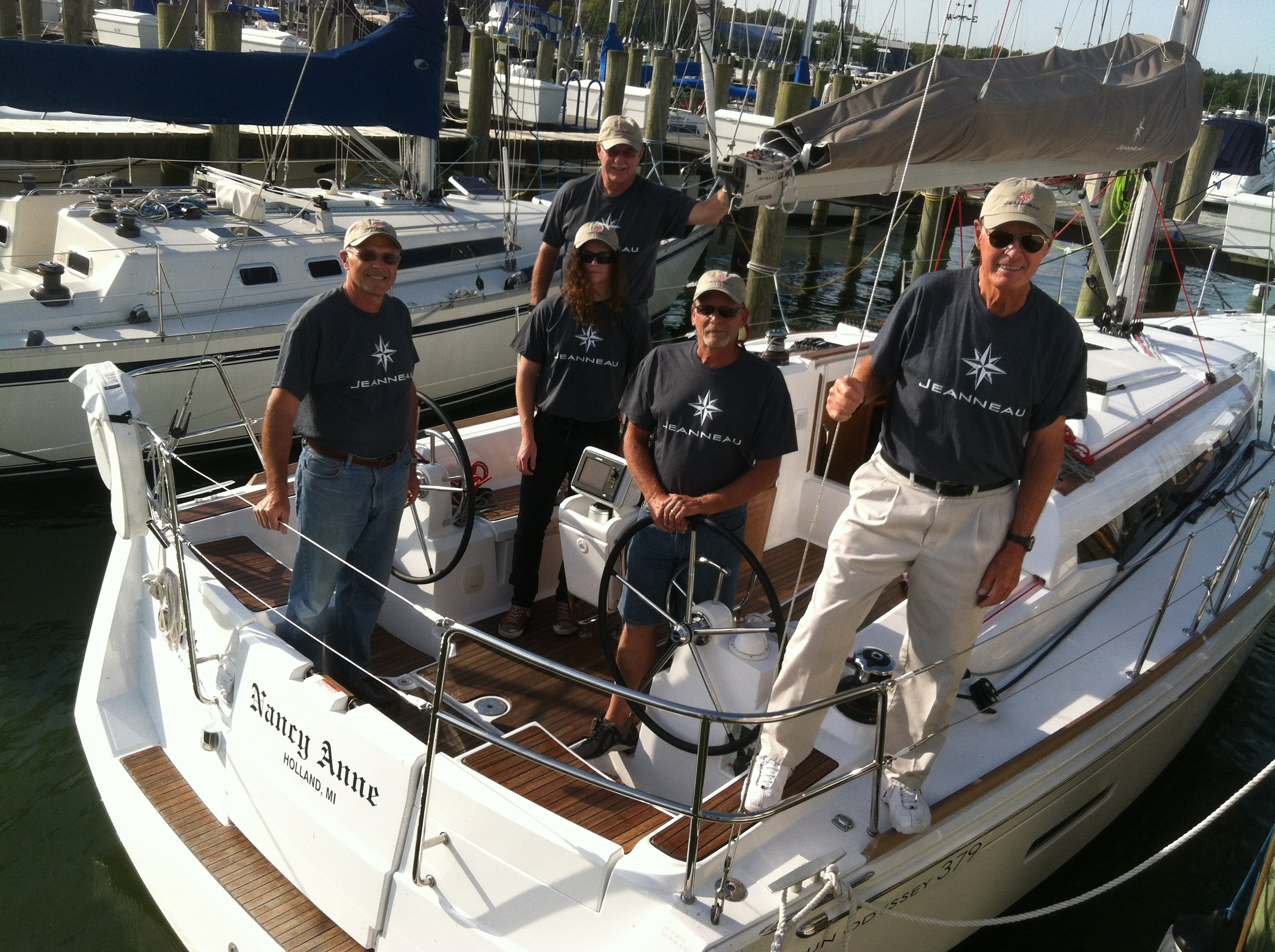 The mighty racing crew of the Nancy Anne