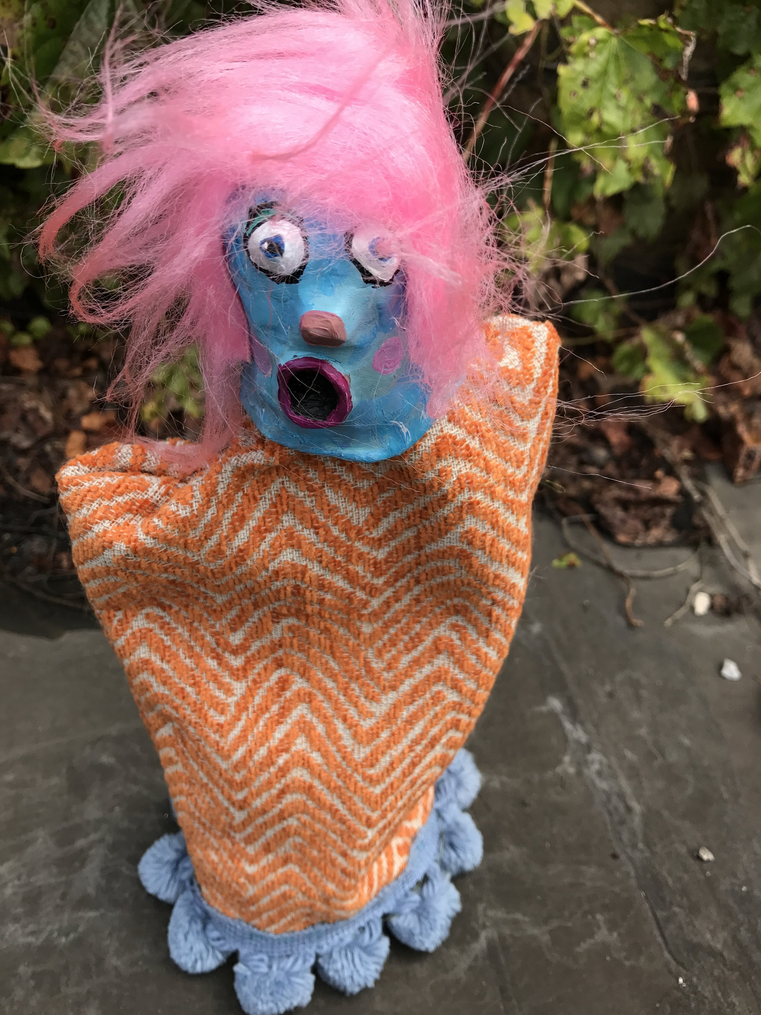 It's Faye, hand puppet