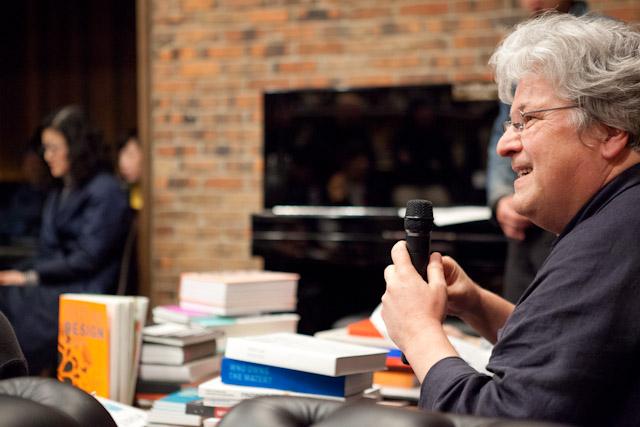 Lars Müller (Lars Müller Publishers founder) talk show      インタビュアー:蜂賀亨(QUOTATION 編集長)   司会:中島佑介(limArt Co., ltd)   2012年3月24日(土)