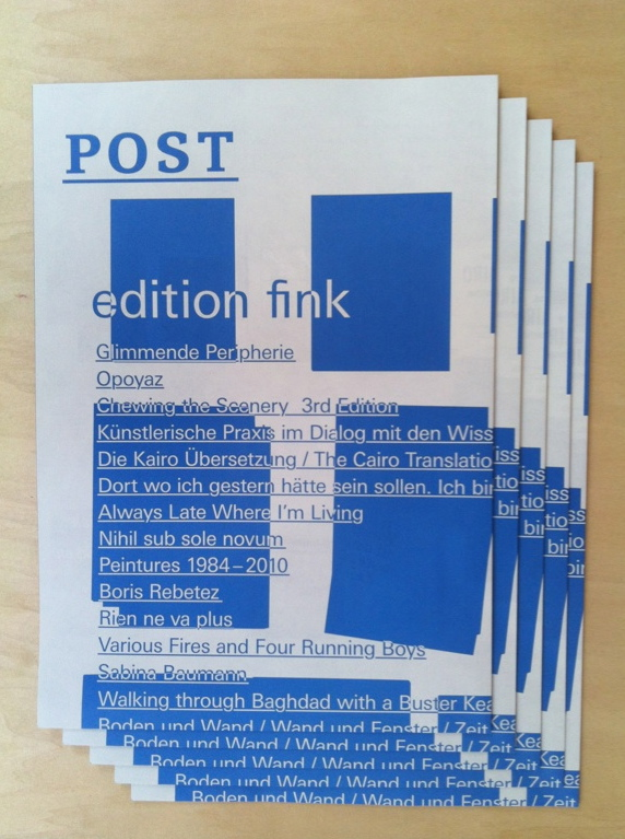 the brochure of Edition Fink