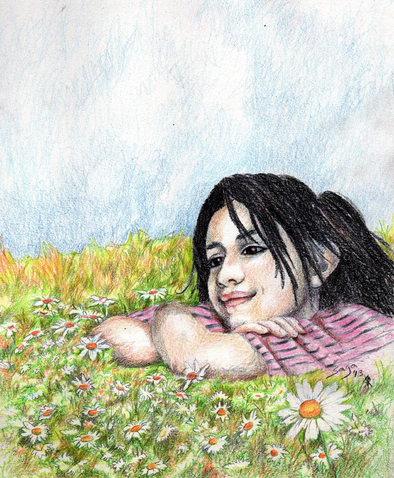 """Reyna."" Child portrait by Saga Erickson of Stark Raven Studios"