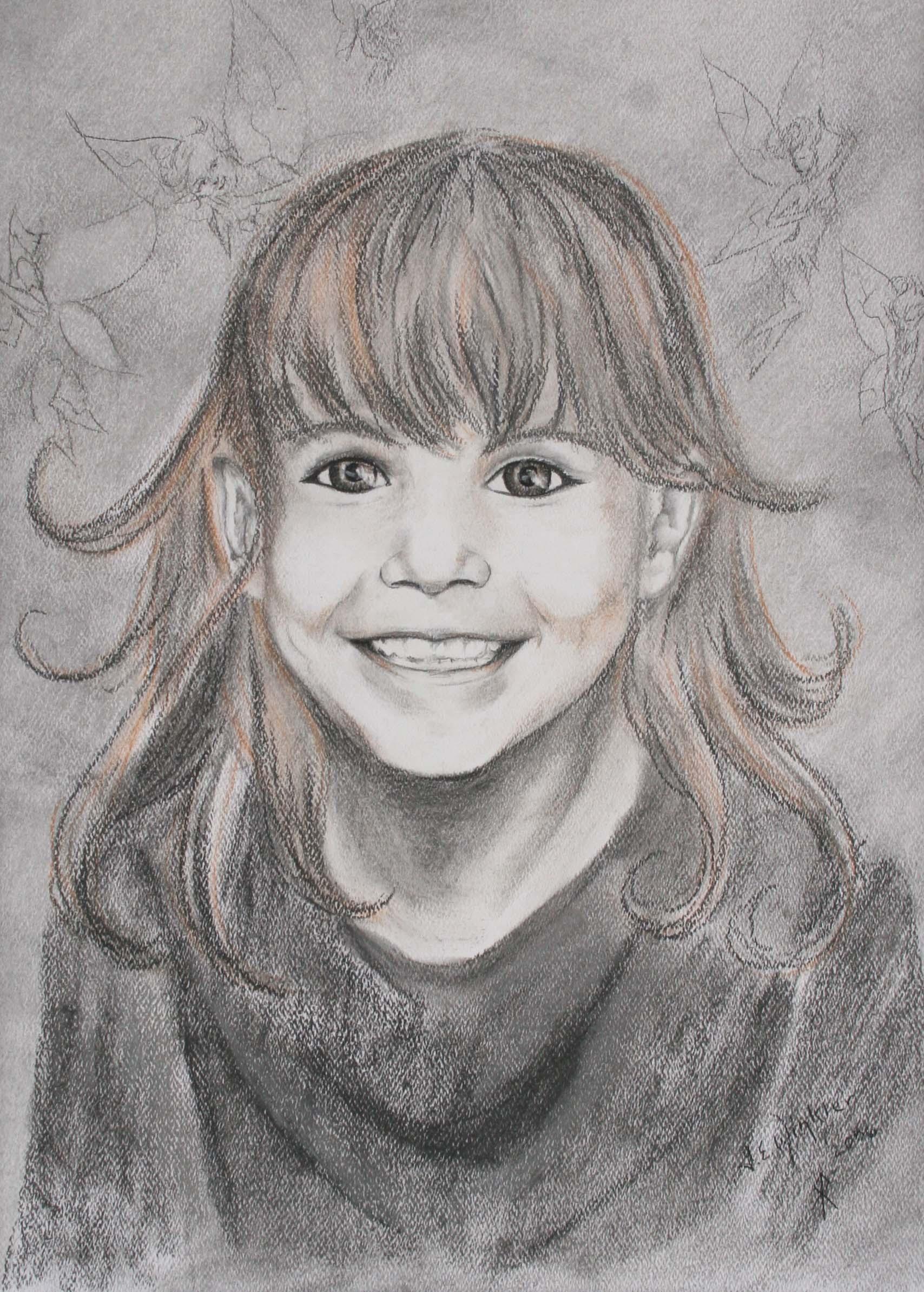 Pastel portrait of Ariel
