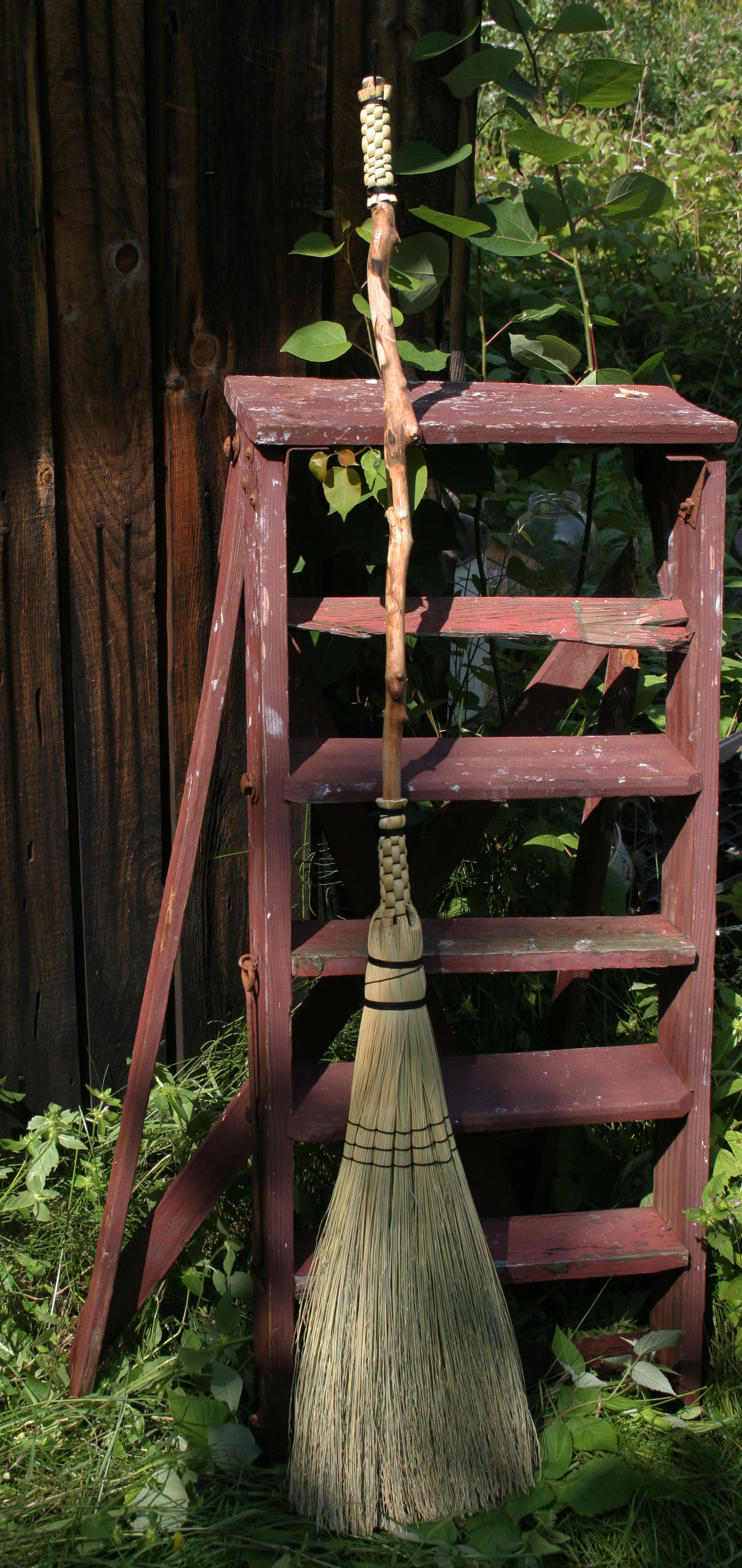 Making brooms is still a staple