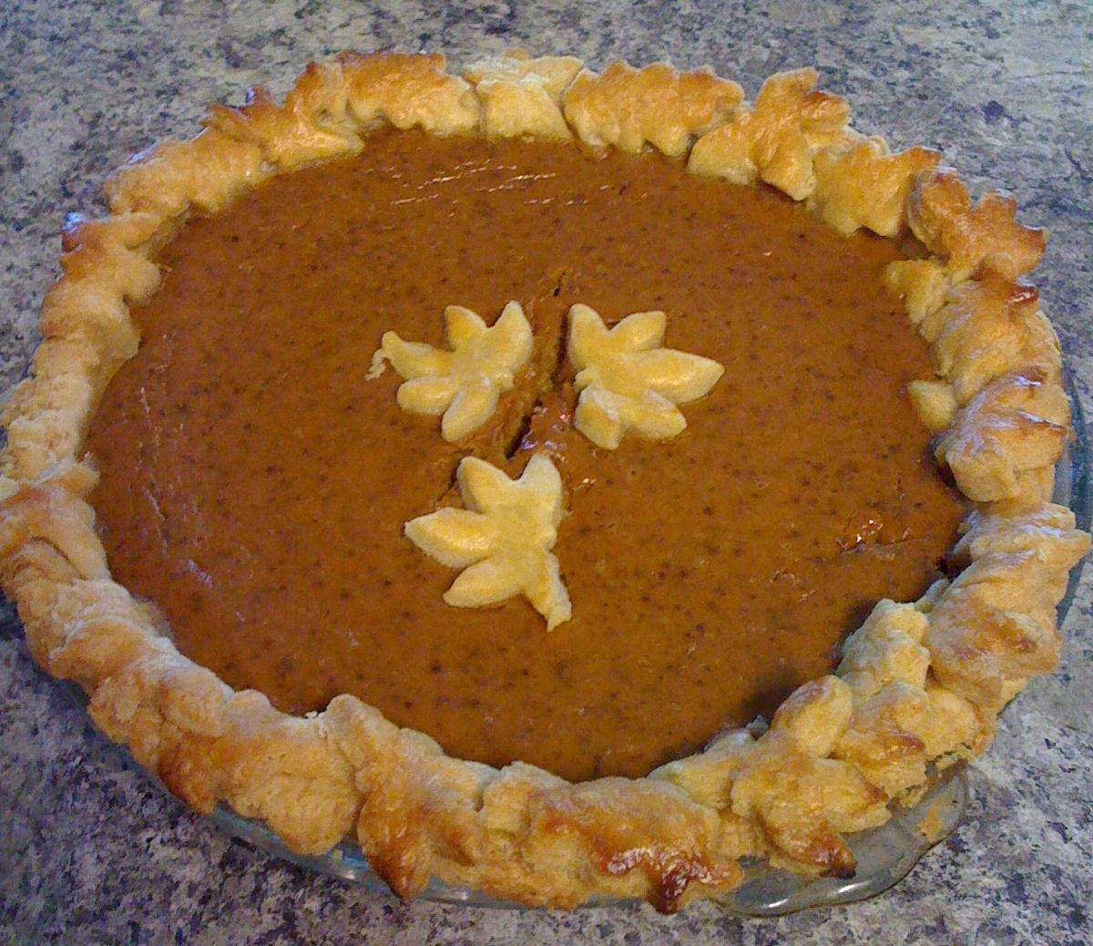 Becky Player's Pretty Pumpkin Pie