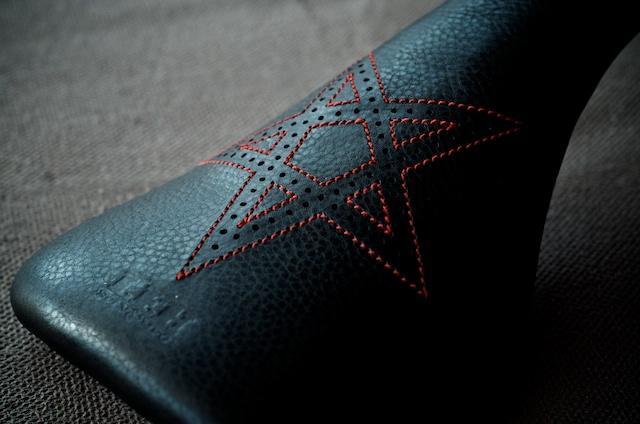 Black Leather- Red- pentagram- BMX Pivotal-seat-custom-bike-bicycle-hand-made-Austin-texas-usa-Satan-666 3.jpg