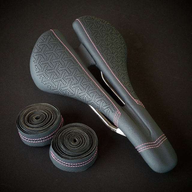 Specialized Bicycle Components-saddle-Romin-expert-custom-leather-japanese-dots-pink-silver-grey-handmade-austin-leatherworking-busyman-leh-seats-matching-barwrap-usa-real-hide-brooks-leh-seats-custom-manufacturing  2.jpg