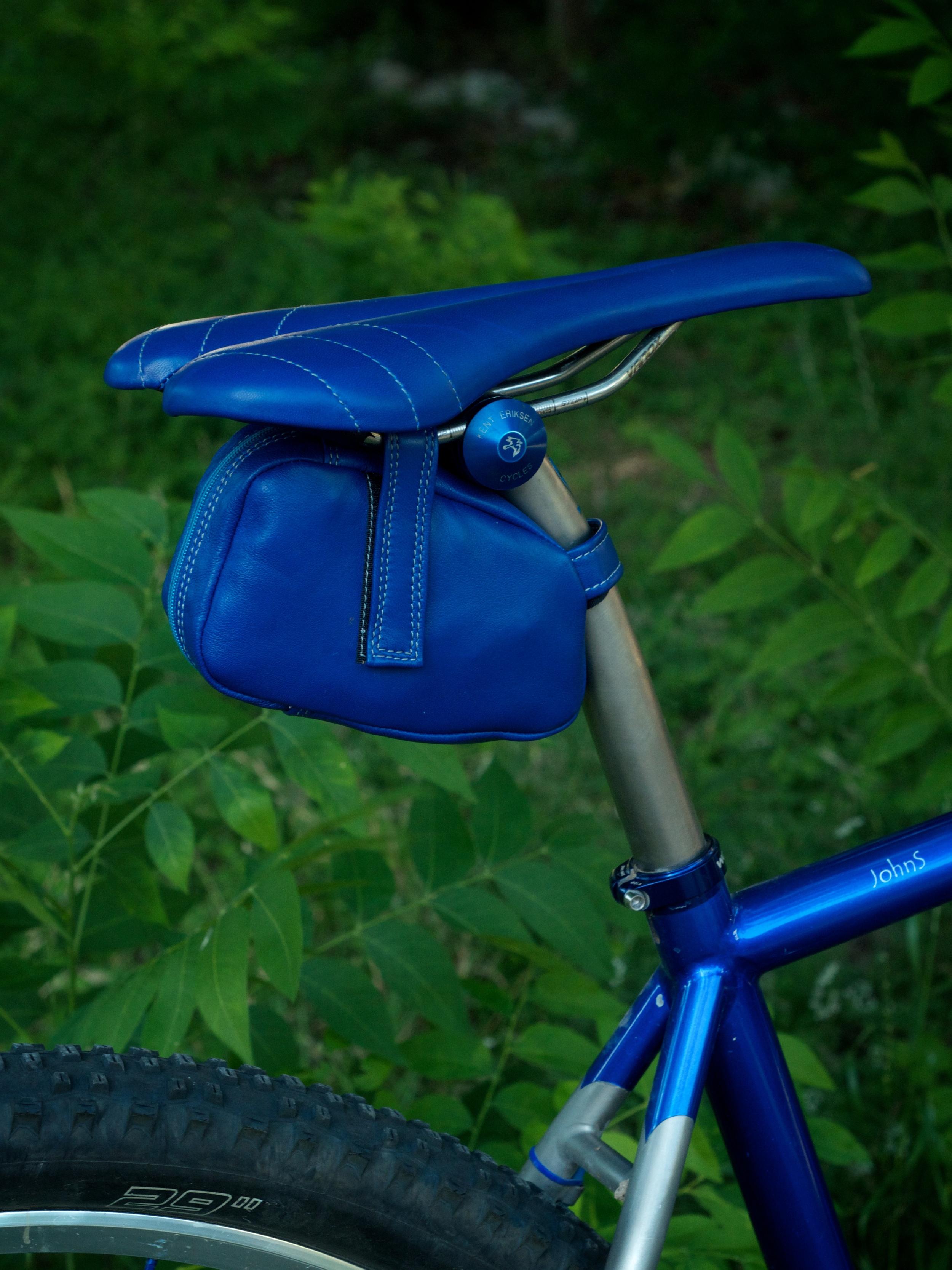 Custom-blue-leather-Selle_Italia-SLK-recover-repair-saddle-bag-handmade-Austin-texas-Willits-eriksen-vintage-brooks-busyman-grey-seat-vintage 6.jpg