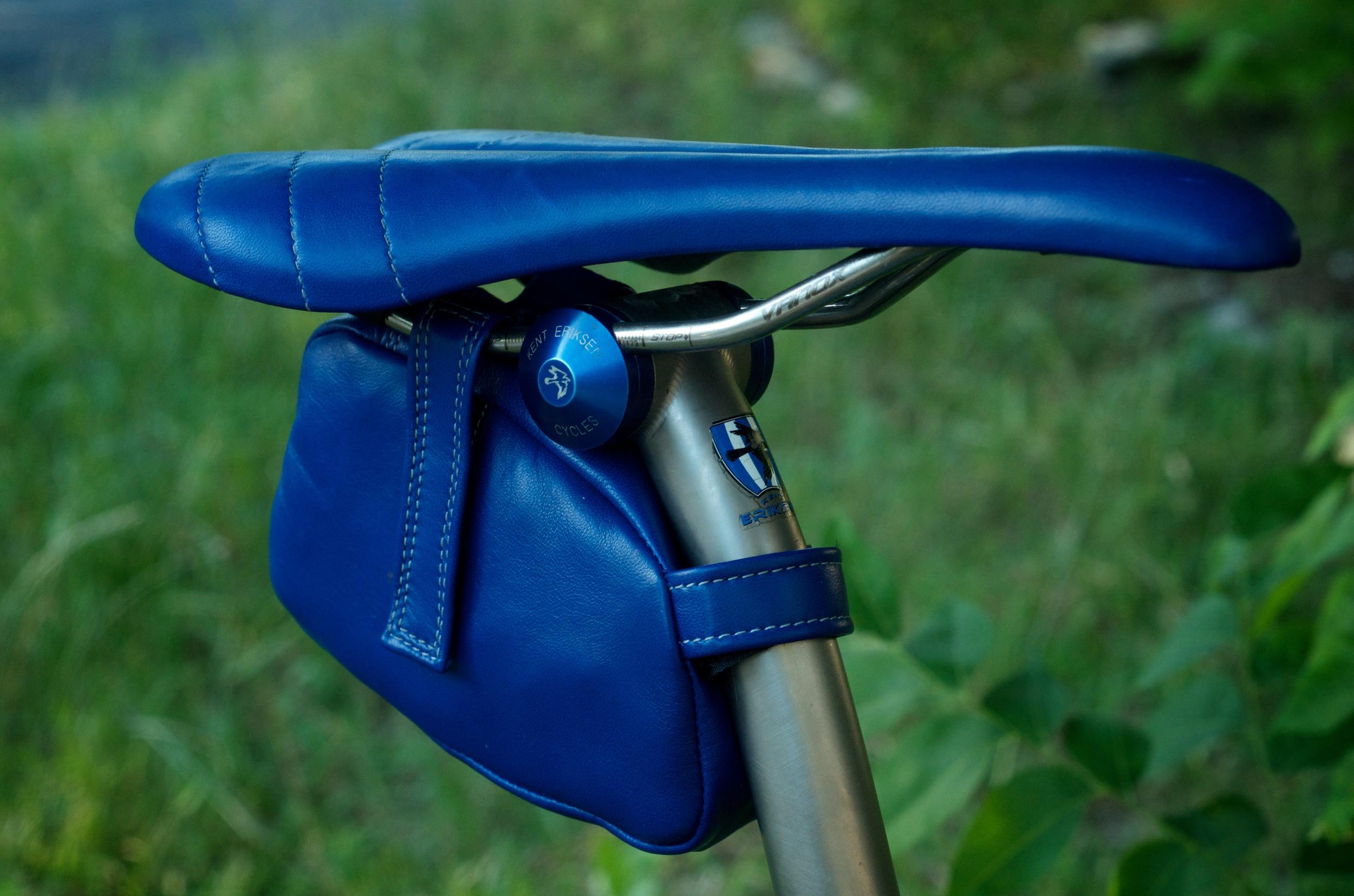 Custom-blue-leather-Selle_Italia-SLK-recover-repair-saddle-bag-handmade-Austin-texas-Willits-eriksen-vintage-brooks-busyman-grey-seat-vintage 3.jpg