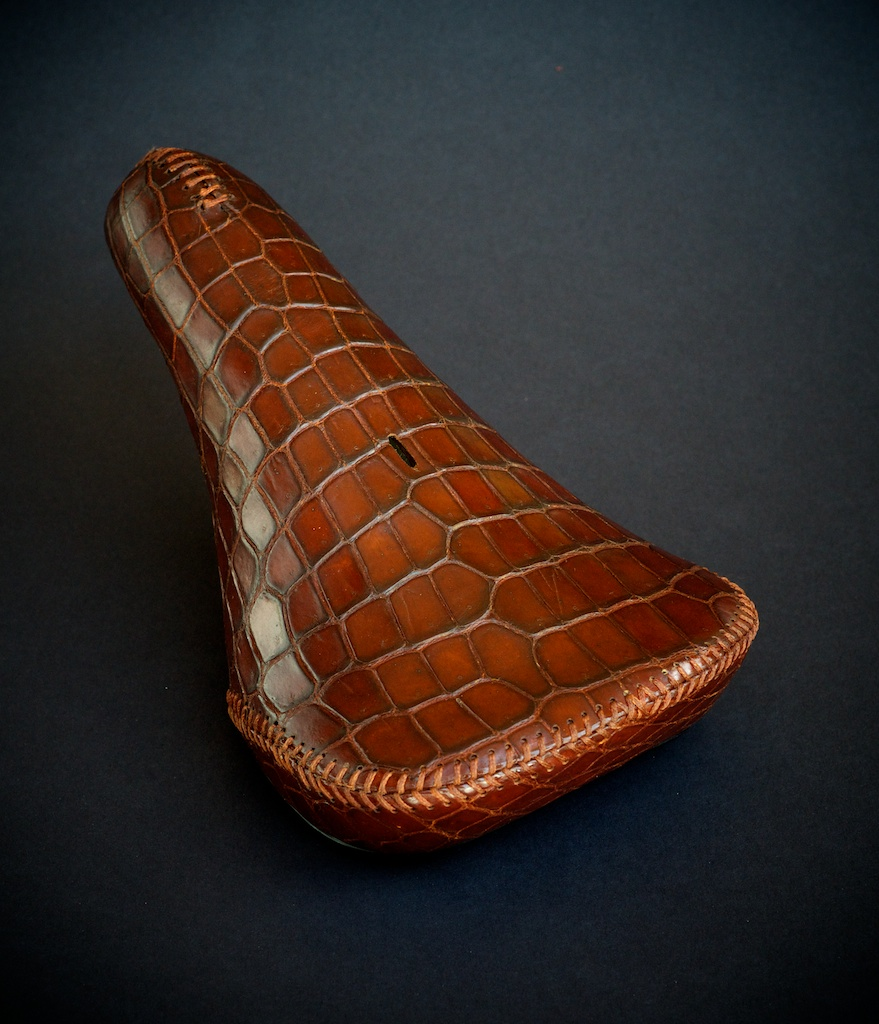 Custom-leather-Crocodile-Alligator-tree-ergo-leather-bmx-seat-bike-bicycle-motorcycle-handmade-leh-seats-carson-recovered-brown-rust-made-in-Austin-texas 2.jpg