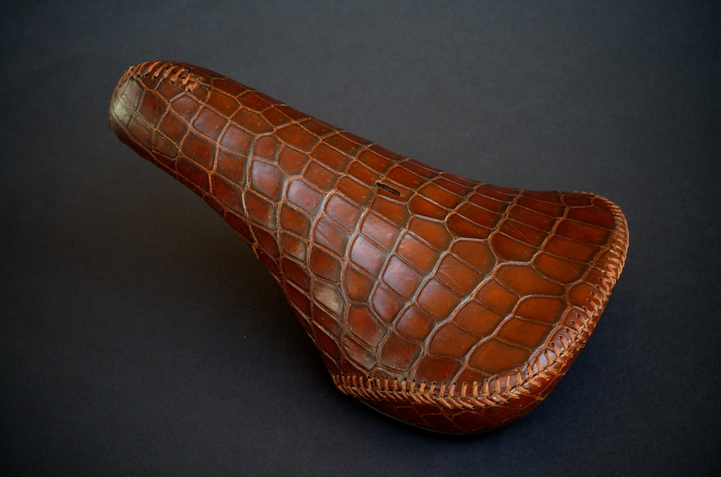 Custom-leather-Crocodile-Alligator-tree-ergo-leather-bmx-seat-bike-bicycle-motorcycle-handmade-leh-seats-carson-recovered-brown-rust-made-in-Austin-texas 1.jpg