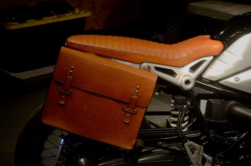 Revival-BMW-RNineT custom bull hide saddlebag custom leather seat honey leather grips bag hand made austin texas leh seats- carson leh 1.jpg