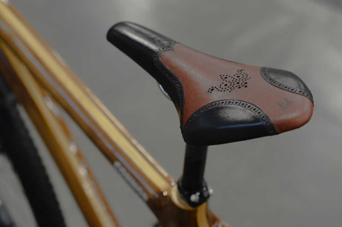 leh Cycling goods seats leather Nahbs north American bike show prince bike-purple Reign Peakcock groove custom best in show winner connor wood -5.jpg