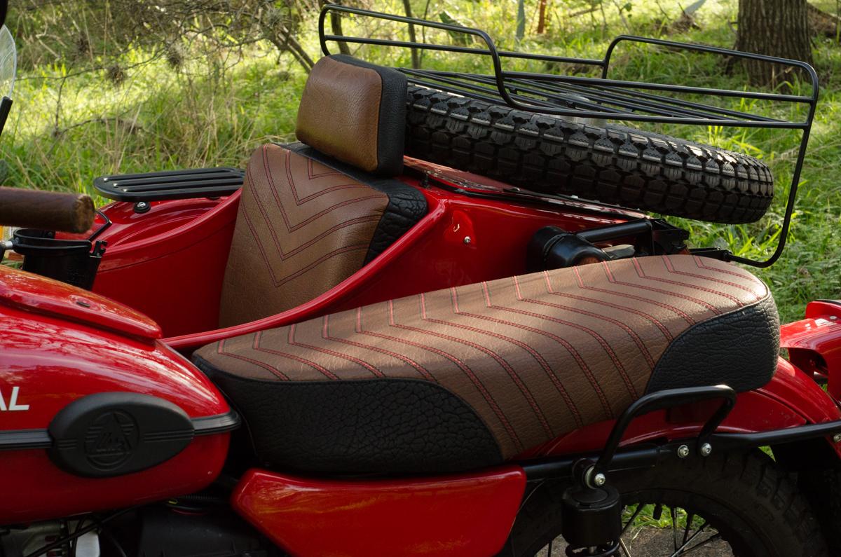 Ural Patrol side car red custom motorcycle leh cycling goods bison leather black brown custom motorcycle -8.jpg