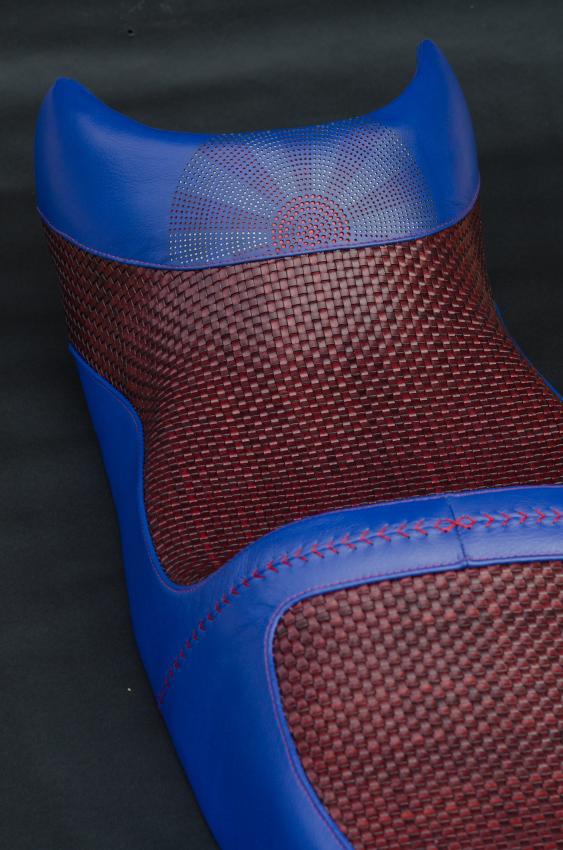 Honda VFR woven rising sun saddle custom leather hand made usa leh cycling goods -8.jpg