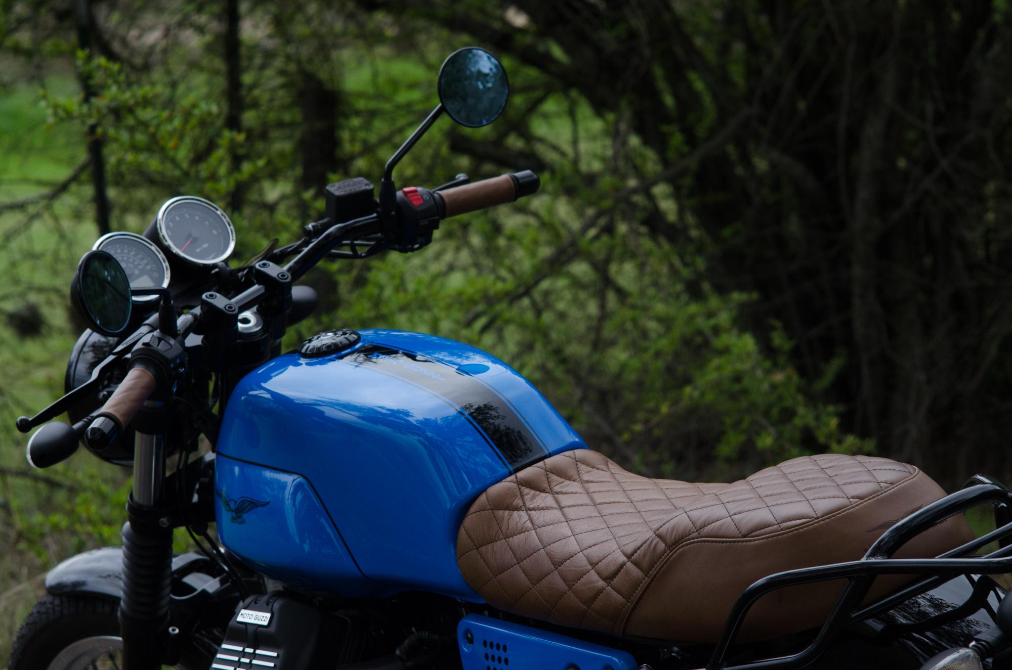 Obsidian Leather Goods Custom Moto Guzzi leather saddle with etched logo- custom- -5.jpg