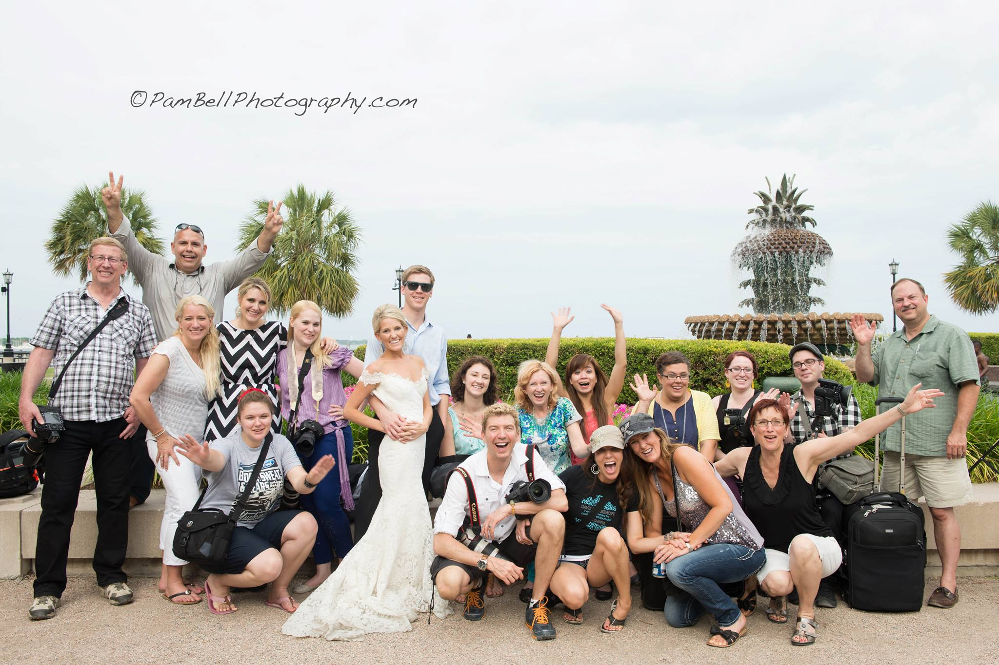 Workshop photographers - We had fun and are excited about life! :)  Photo by Pam Bell Photography