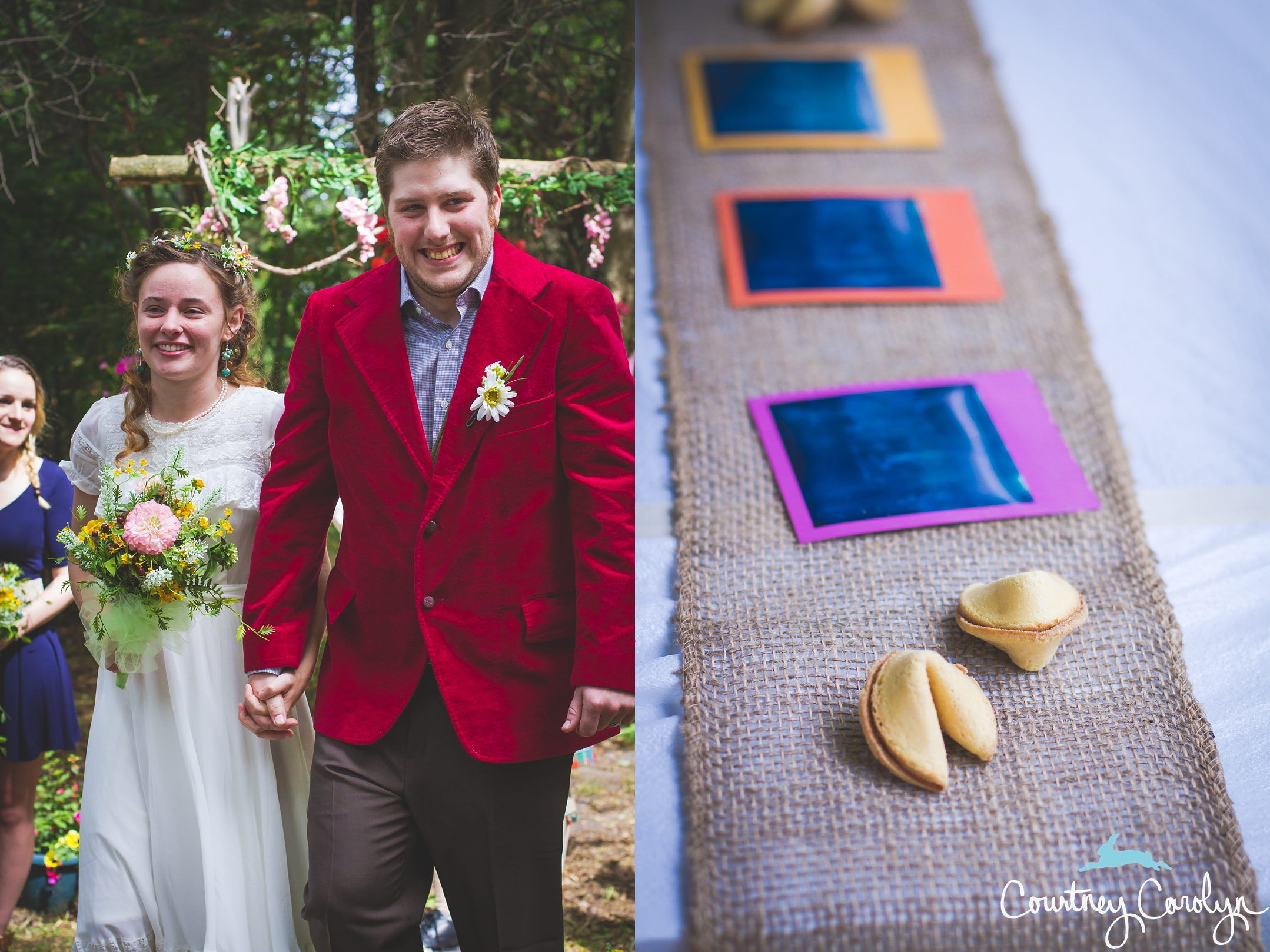 Intimate Wedding in the Woods, Huron Natural Forest, Courtney Carolyn Photography