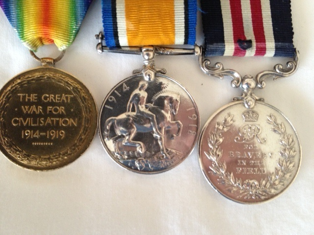 The medals that Masumi Mitsui's grandson, David, now cares for.